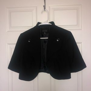 Black Crop Top Blazer